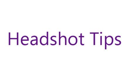 Tips for professional headshots